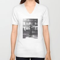 johnny cash V-neck T-shirts featuring Johnny Cash by Earl of Grey