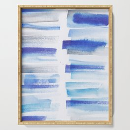 5| 181101 Watercolour Palette Abstract Art | Lines | Stripes | Serving Tray