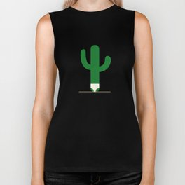 Cactus in underpants. Biker Tank