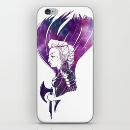 Femme Space Warrior iPhone Skin