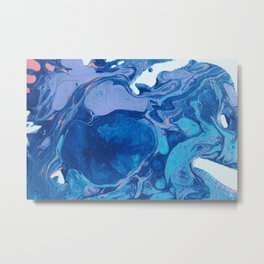 Pour Art: Pink-Infused Blues Metal Print