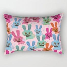 Cute Fluffy Bunnies Rectangular Pillow