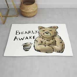 Bearly Awake Funny Pun Rug