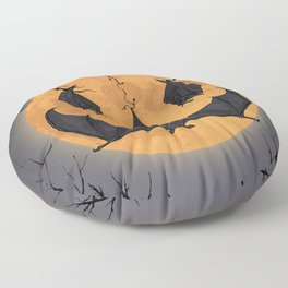 Halloween Moon Floor Pillow