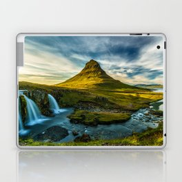 Triple waterfalls of Kirkjufell in Iceland II Laptop & iPad Skin