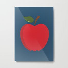 The Red Apple Poster Metal Print