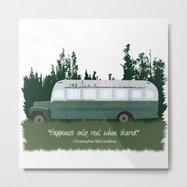 Into The Wild - Magic Bus Metal Print