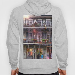 New Orleans French Quarter Iconic Architecture Hoody