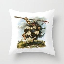 Viking Berserker Throw Pillow