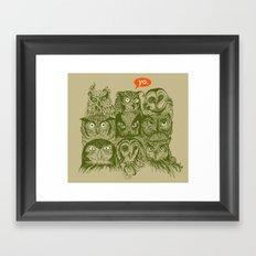Wisdom to the Nines Framed Art Print