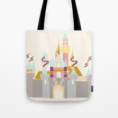 Sleeping Beauty Castle - cream background Tote Bag
