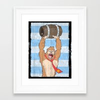 donkey kong Framed Art Prints featuring Donkey Kong by William Davies