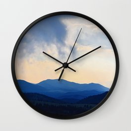 Dark Hills Wall Clock