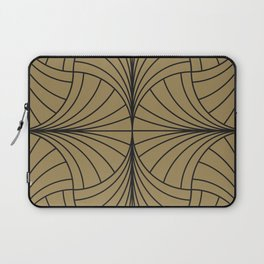 Diamond Series Inter Wave Charcoal on Gold Laptop Sleeve