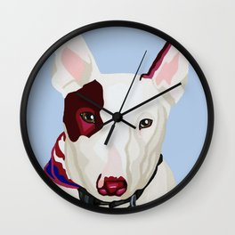Archie the Bull Terrier Wall Clock