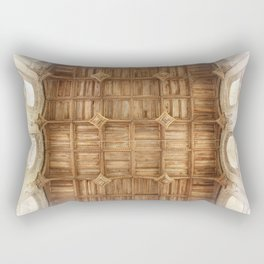 Wooden church ceiling  Rectangular Pillow