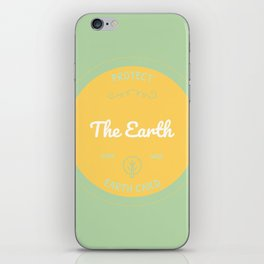 Protect the Earth (2) iPhone Skin