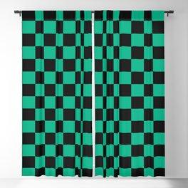 Tanjiro Pattern Blackout Curtain