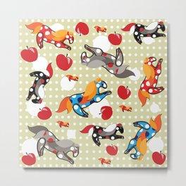 Паттерн с лошадками Metal Print