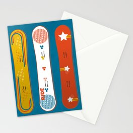 SNOWBOARD DESIGN Stationery Cards