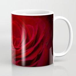 Deep Red Blood Rose On Black Coffee Mug