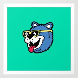 Cool Bear (portrait) Art Print