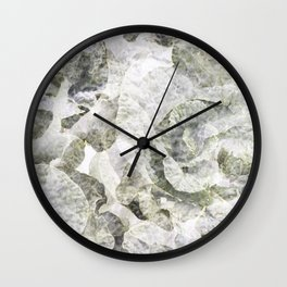 White and Green Foliage Wall Clock