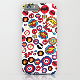 Superhero Stickers iPhone Case