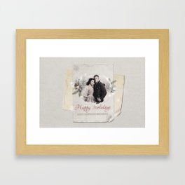 OUAT HAPPY HOLIDAYS // Snowing Framed Art Print