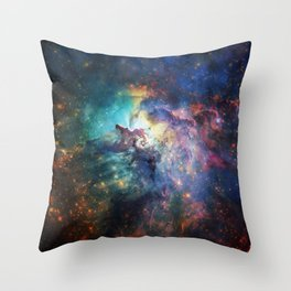 Lagoon Nebula / Second Version Throw Pillow