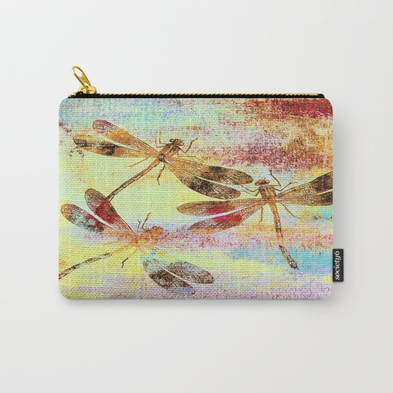 Mauritius Vintage Dragonflies Colours S Carry-All Pouch