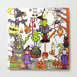 Halloween creatures Metal Print