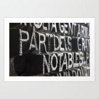 Catalan Engraving Art Print