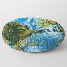 Mt. Rainier Beauty Floor Pillow