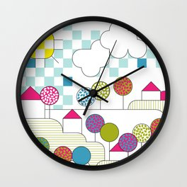 litlle village Wall Clock