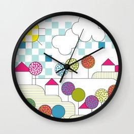 litlle village Wall Clock