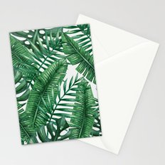 Palm Leaf Tropical Pattern Stationery Cards