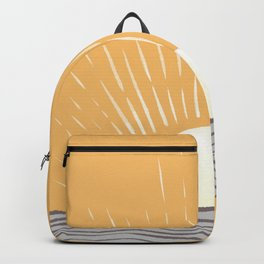 Abstraction minimal sunrise ocean 2021 - 1 Backpack