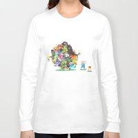 katamari Long Sleeve T-shirts featuring Adventure Time - Land of Ooo Katamari by Sin nombre