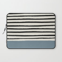 Dusty Blue x Stripes Laptop Sleeve