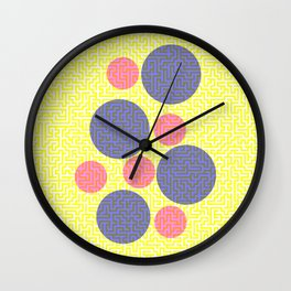 A-mazed circles Wall Clock