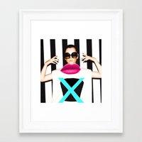 the xx Framed Art Prints featuring xx by Neon Wonderland