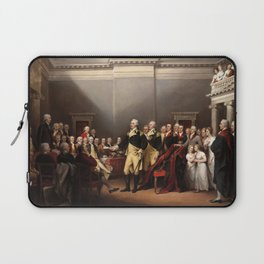 General George Washington Resigning His Commission by John Trumbull (1824) Laptop Sleeve