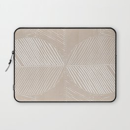 Cream Tropical Leaf Minimalist Laptop Sleeve