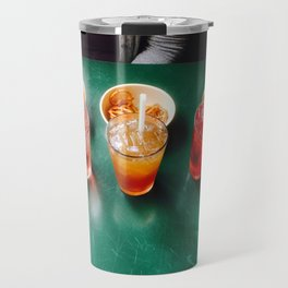 Colorful Happy Hour Drinks and Pretzels Travel Mug