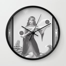 Two of Pentacles Wall Clock