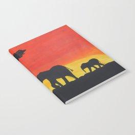 African Sunset Notebook