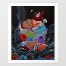 it a rose from a depth we didn't know existed Art Print