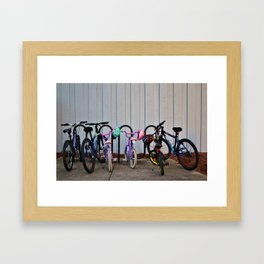 Family Bicycles Framed Art Print