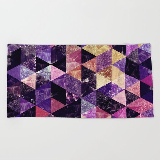 Abstract Geometric Background #9 Beach Towel